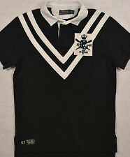 NWT Polo Ralph Lauren Custom Fit SIZE SMALL Black/White Crest Rugby Shirt