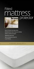 FITTED Cal-King Waterproof Mattress Protector Cover Bed Bug Dust Mite Cover