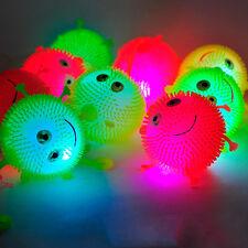 1x Flashing Light Up Spikey High Bouncing Balls Novelty Sensory Hedgehog Ball