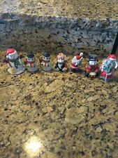 (7) Adorable Assorted Ceramic Christmas Shelf Figurines