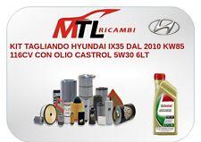 KIT TAGLIANDO HYUNDAI IX35 DAL 2010 KW85 116CV CON OLIO CASTROL 5W30 6LT