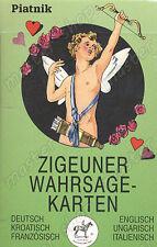 Tarot diciendo Tarjetas Gipsy Baraja De Cartas-Zigeuner - 6 lenguas, Piatnik # 120-Uk