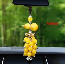 Yellow Auto Car Rear View Mirror Pendant Jewelry Decor Ornament Accessories