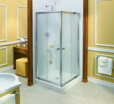 "MAAX 32"" x 32"" CENTRIC 1/4"" GLASS SQUARE FRAMELESS SLIDING CORNER SHOWER DOOR"