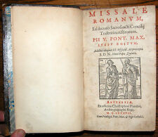 1587 - AN ILLUSTRATED ROMAN MISSAL (Council of Trent) FROM CHRISTOPHER PLANTIN