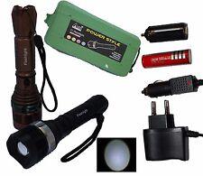 Swat Cree Led Taschenlampe 18000 Lumen sehr Hell mit 5800mAh Power akku Adapter