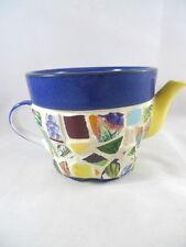Mosaic Flower Pot Tea Pot Shape Handmade Decorative Unique