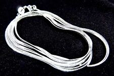 "Sterling 925 Silver 2mm Flat Snake Chain 16"" Necklace Lobster Clasp"