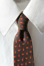 Chipp Vintage Gentleman's Brown, Red, & Blue Ancient Madder Printed Silk Tie