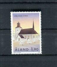 Aland  1999  serie ordinaria chiesa di Lemland Mnh