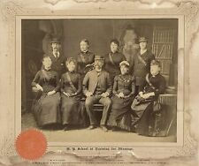 NEW YORK SCHOOL OF TRAINING IN MASSAGE, 1887 GRADUATION CLASS &  ORIGINAL PHOTO