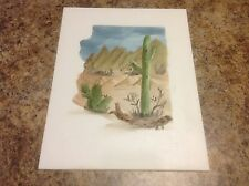 Southwestern Original Oil Painting Canvas Panel Arizona By Artist D. Blanchard