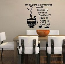 Wall Decal. Inspirational Wall Decal. Sticker. Un Te para la autoestima.