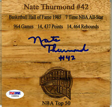 Nate Thurmond SIGNED Floorboard Golden State Warriors HOF PSA/DNA AUTOGRAPHED