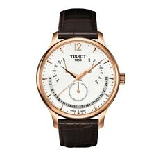 NEW TISSOT TRADITION PERPETUAL CALENDAR S/S ROSE GOLD PLATED T063.637.36.037.00