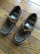 American Eagle Outfitters summer Brown Canvas Boat Deck Shoes Men's Footwear 9