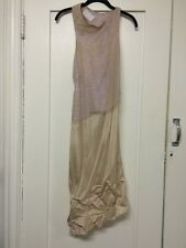 Maison Martin Margiela Sleeveless Dress Silk Nylon Made In Italy 42