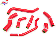 KAWASAKI KXF KX-F 450 2009-2015 HIGH PERFORMANCE SILICONE RADIATOR HOSES RED
