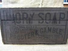 Vintage Ivory Soap Cakes Box   Antique Wooden Boxes Crate 9170