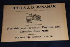 Julius McNamar Booklet Traction Portable Engines Circular Saw Mills Newark Ohio