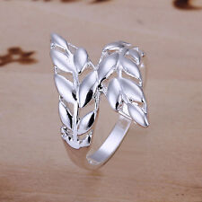 Free shipping wholesale sterling solid silver fashion feather Ring XLSR119