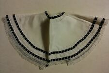 005 Woman's Vintage Teena Brown Dickie Collar W/ Mini Bow Lace Early Amer Look