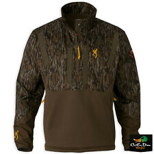 BROWNING WICKED WING TIMBER SOFT SHELL 1/4 ZIP PULLOVER BOTTOMLAND CAMO LARGE
