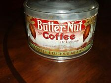 BUTTER-NUT COFFEE TIN 3 LB PAPER LABEL