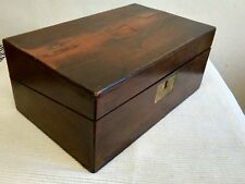 ANTIQUE VICTORIAN EDWARDIAN MAHOGANY WOODEN WRITING SLOPE DESK BOX