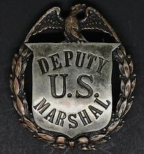 VINTAGE OBSOLETE DEPUTY U.S. MARSHAL Badge Las&sco Collector's Police rare Badge