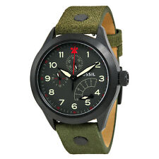 Aeroflite Multi-Function Black Dial Olive Leather Men's Watch Fossil ch2941