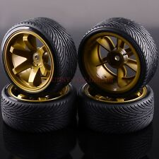HSP RC Racing Speed Drift Tires Wheel Rim & Tyres 1/10 6MM Offset 705-5007 4P
