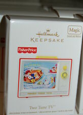 Hallmark 2012 Fisher Price Two Tune Tv Ornament Magic nostalgic Toy