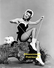 DEBBIE REYNOLDS 8x10 Lab Photo CHEESECAKE Ice Skates SEXY Winter Portrait