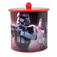 STAR WARS STORMTROOPERS BISCUIT TIN COOKIE JAR BARREL FORCE AWAKENS OFFICIAL