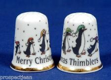Merry Christmas Thimblers 'Exclusive' China Thimble B/61