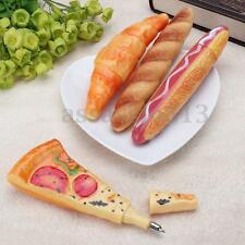 Novelty Pen Funny Pizza Bread Hot Dog Ox Horn Fast Food Ballpoint Pen Stationery