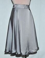 POLY SILK CHIFFON PLATINUM SKIRT  SIZE MISSES 12.. CASUAL WEAR.. MID CALF