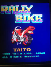 RALLY BIKE BY TAITO  TOAPLAN ARCADE PCB JAMMA ORIGINAL ENGLISH VERSION