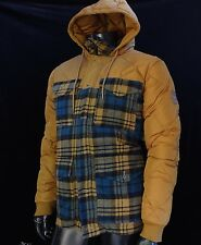 New $250.00 Diamond Supply co. Quilted Coat Hoodie Mens Jacket Size Large