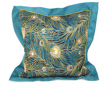Liberty Of London For Target Signature Peacock Feather Print Square Throw Pillow