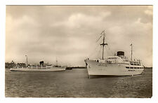 MS Kronprinsesse Ingrid - United Steamship Co Real Photo Postcard c1950s Harwich