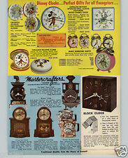 1970 PAPER AD Walt Disney Phinney Walker Character Clocks Mickey Mouse Don Duck