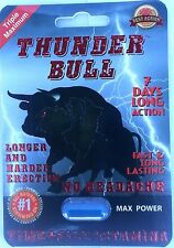Thunder Bull Triple Maximum Male Enhancement Libido Long Lasting!- 10 Pills