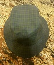 """Hats of Ireland Castlebar"" Green/Blue Plaid 100% Cotton Bucket Hat Large 7 3/8"