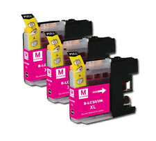 3 MAGENTA Printer Ink w/ chip for Brother LC201 LC203XL MFC J680DW J880DW J885DW