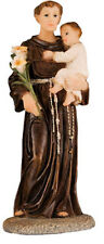 SAINT ANTHONY 125mm RESIN STATUE - CRUCIFIXES CANDLES PICTURES ARE ALSO LISTED