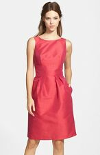 NEW ALFRED SUNG Boatneck Sheath bow back DRESS SIZE 4 $180 SANGRIA WEDDING