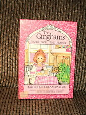 1976 THE GINGHAMS KATIE'S ICE CREAM PARLOR PAPER DOLL COMPLETE AND UNUSED!