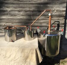 Moonshine still, 17 Gallon!!! Thumper, Worm, Copper Kit
